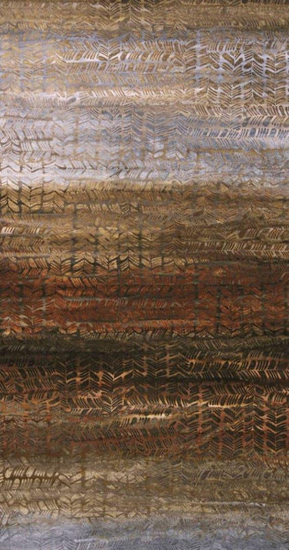 Textured Forest Floor Batik Fabric