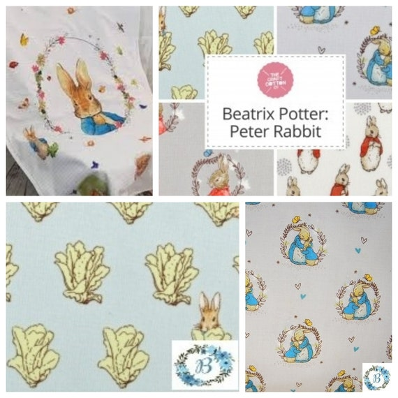 Peter Rabbit Collection 5 Coordinating Fabric Choices Available