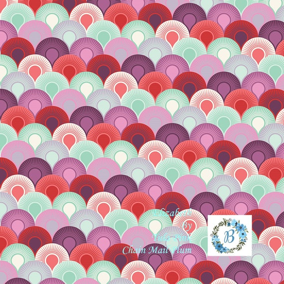 TULA PINK Elizabeth - Chain Mail Plum- Out of Production sold by the 1/2 metre
