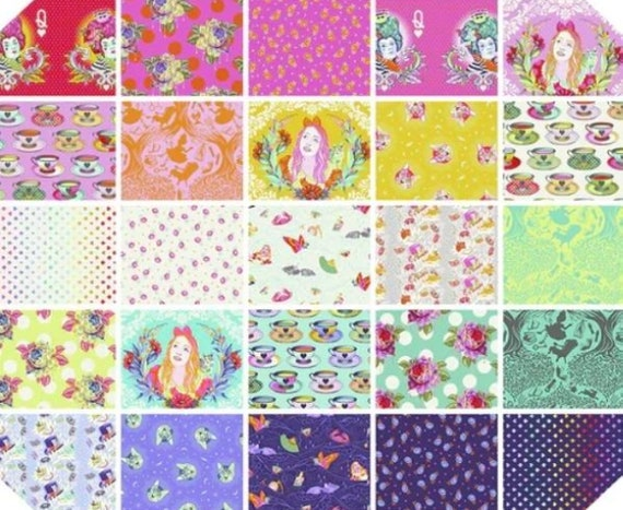 FQ BUNDLE CURIOUSER & Curiouser  this gorgeous bundle contains 25 prints from the collection -   Curiouser and Curiouser - Tula Pink