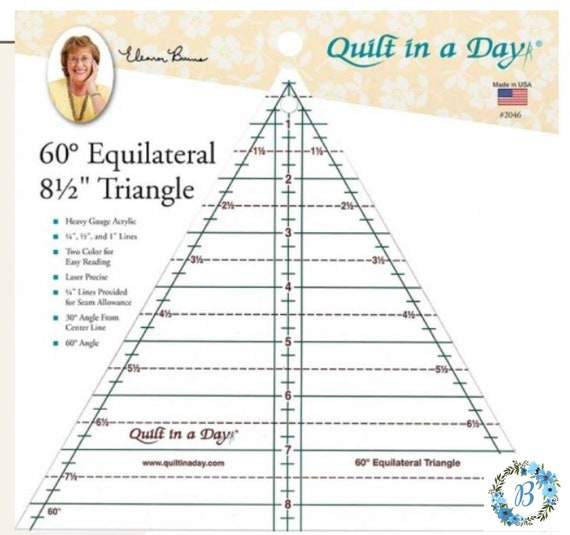 NEW PRODUCT Acrylic  ruler 60 degree 8.5 Inch Triangle Ruler by Quilt in a Day