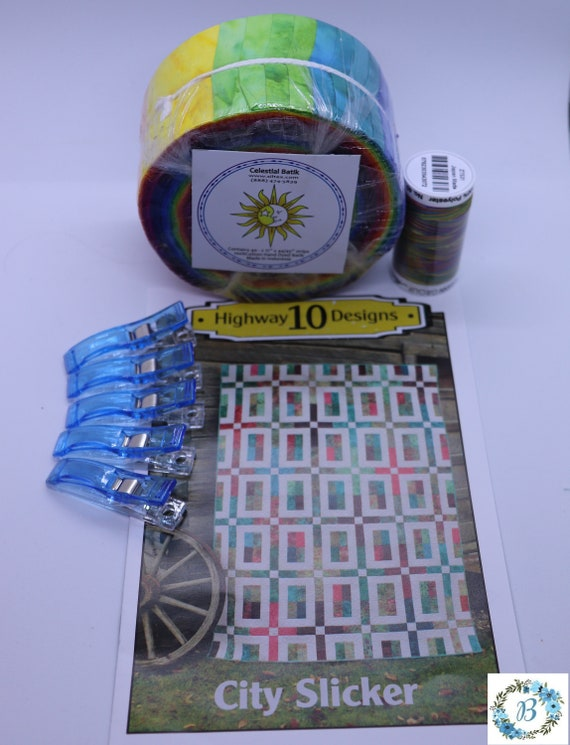QUILT KIT: Jelly Roll, Pattern, Thread, and BQP Wonderful Clips