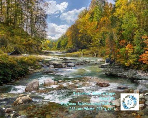 AUTUMNAL River Escape - Large Panel - Hoffman International