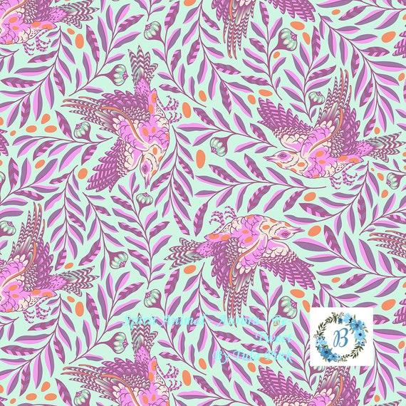 TULA PINK Spirit Animal Re-Tweet  - Aurora  sold by the 1/2 metre