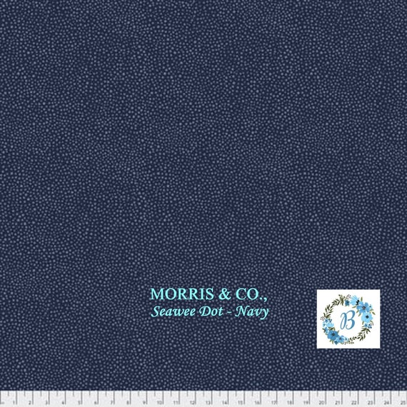MORRIS and Co. Seaweed Dot - Navy The Original Morris & Co.,  Be a part of the Arts and Crafts Movement Today