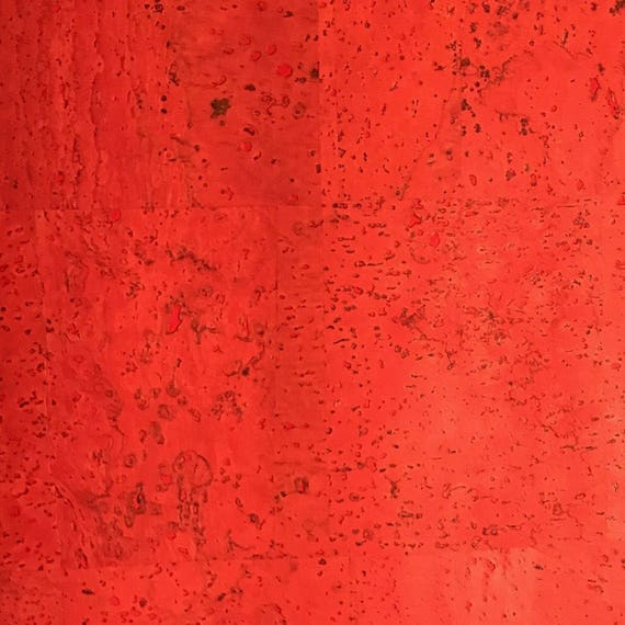 Surface Red Cork Fabric