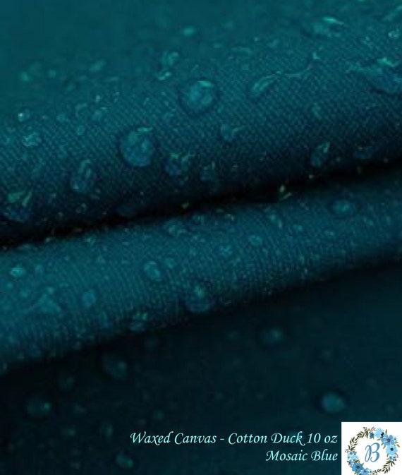 WAXED CANVAS - Cotton Duck 10oz - Mozaic Blue