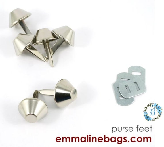 """Purse Feet by EMMALINE BAGS -- 6 per pack (18mm - 9/16"""") -- Bucket Style -- Various finishes available."""