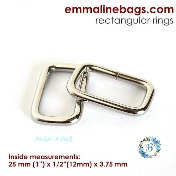 "RECTANGE RINGS 1"" Emmaline Bag HardwareRectangular Rings 4 pack  26mm (1 inch) -Various Finishes"