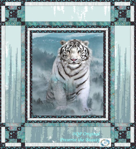 PRESERVE THE BEAUTY - Quilt Top Kit featuring the panel Ice Blue from Call of the Wild