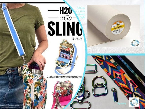 H202GO Sling bag pattern by Linds Handmade - Blueberry Quilt Patch now carries kits and more for this functional and useful bag.