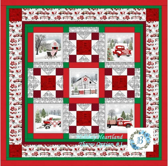 HOLIDAY HEARTLAND - Option #1 created with some fabrics by Jan Shade - Bring the Heartland feel & ambiance into your Home this Christmas