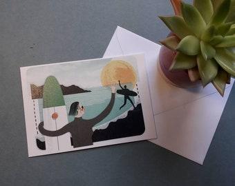 Hey! Hello! A greetings card