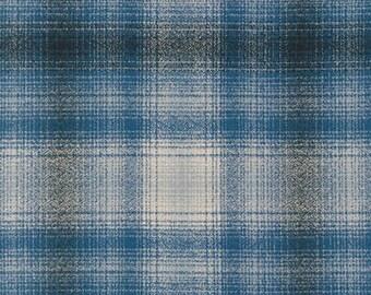 Mammoth Junior FLANNEL Glen Plaid Spring SRKF19839412 Plaid Robert Kaufman Beige Grey Check Quilting cotton fabric 605