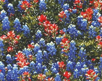 By the 1/2 Yard - Texas Flowers - Landscapes and Florals - Michael Miller - Quilting Cotton