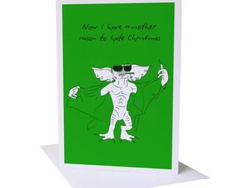 Gremlins Xmas Greeting Card
