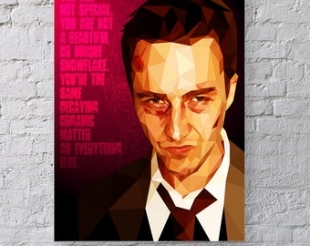 I found freedom. Losing all hope was freedom. - Fight Club Print
