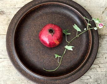 Vintage Arabia Ruska Round Platter, Mid Century Finnish Kitchenware , Ulla Procope Design for Arabia Finland