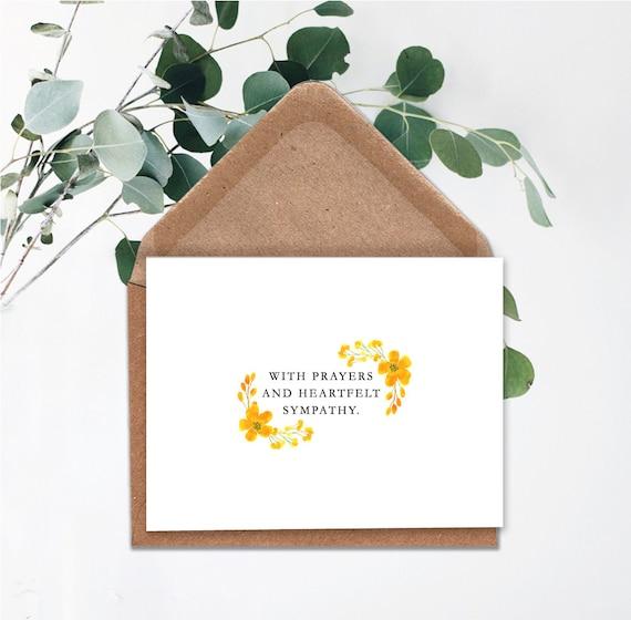 Condolence card Heartfelt Sympathy Instant download,Printable card,in memory of Printable Sympathy Card Death Anniversary With Prayers