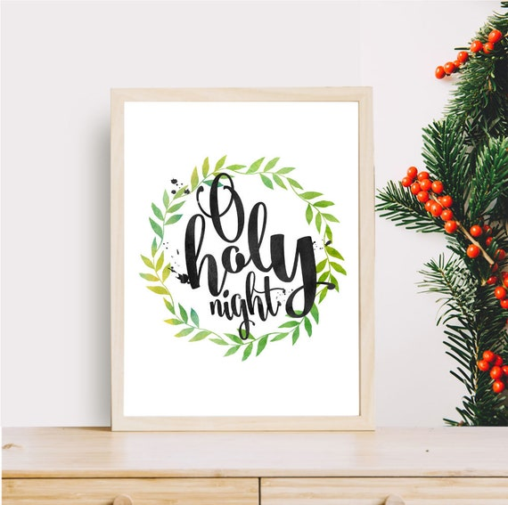 Jesus Christmas Quotes.O Holy Night Christmas Printable Quotes Xmas Gifts Instant Download Verses Christmas Printable Jesus Saviours Birth Holiday Print