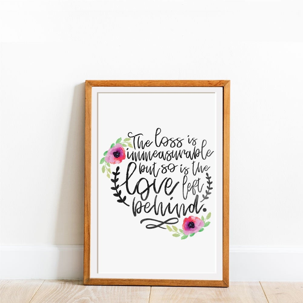 Sympathy Quotes Infant Loss Gifts Miscarriage Print Baby ...