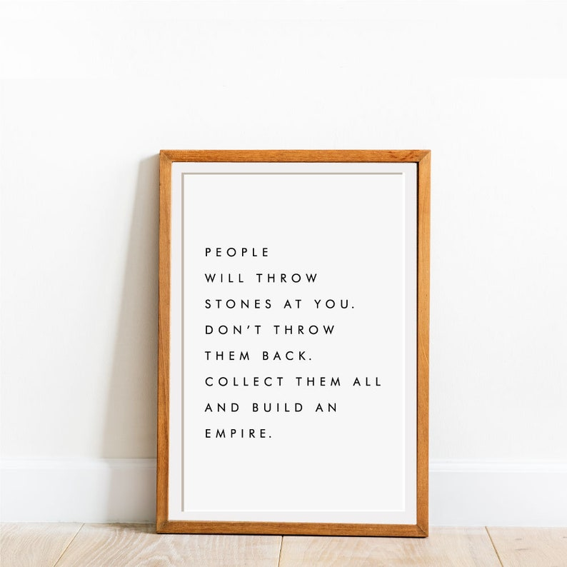 Motivational inspirational quote positive life poster picture print wall art 370