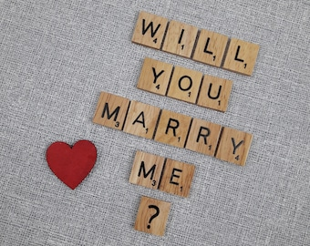 Will You Marry Me? Personalised Scrabble Magnets - Unique Proposal Idea
