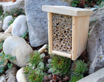 nestbox for solitary bees/insect hotel/ bug hotel/bee box/wild bee house. Alternative beekeping. Mini.  Slovenia made, sustainable design