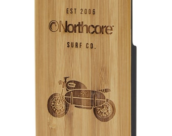 Northcore iPhone 7 cas de bambou : moto