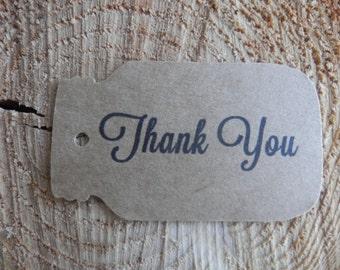 Mason Jar Thank You tags set of 25 Wedding Thank You