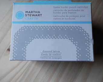 Diamond Lattice frame border punch cartridge by Martha Stewart Crafts NIB unused craft supply Paper Punch