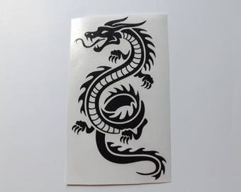 Asian Dragon Decal-yeti decal-laptop decal-window decal-car decal-tumbler decal-truck decal-bike decal-vinyl decals-permanent vinyl decals