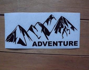 Mountain Adventure decal-car decal-window decal-laptop decal- Mountain Decal-yeti decal-tumbler decal-Adventure decal-travel decal
