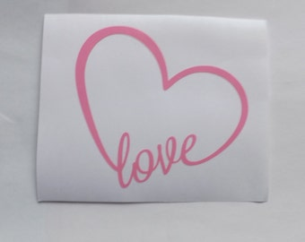 Valentines Day Decal Love Heart decal, window decal,laptop,mug decal,Yeti decal, personalize decal