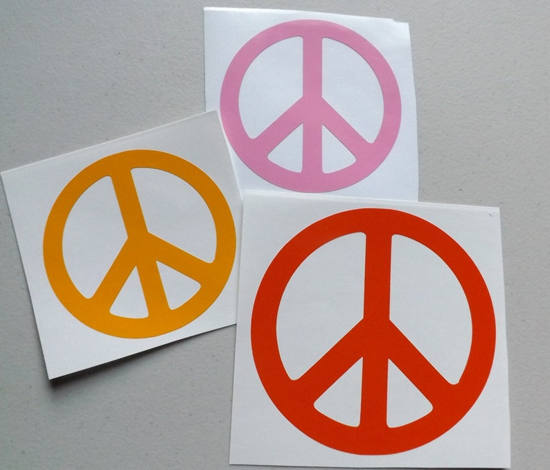 Peace Sign Decal Peace Symbol Vinyl Decal Peace Symbol Etsy