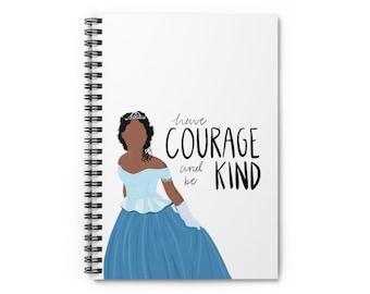 Brandy Cinderella Notebook   Disney Princess Notebook  Cinderella Spiral Notebook - Ruled Line