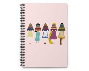 Disney Princess Notebook   Disney Princess Reading   Spiral Notebook - Ruled Line