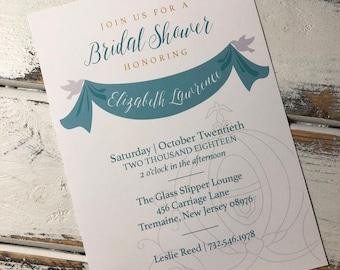 Disney Cinderella Bridal Shower Invitation - Disney Bridal Shower Invitation