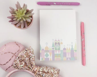 Disney Notepad - It's a Small World Notepad - Mary Blair Inspired