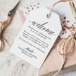 Welcome Wedding Tag, Wedding Welcome Bag Tag, Wedding Welcome Gift Tags, Welcome Bag, Favor Tag, PDF Instant Download #BPB310_24_1