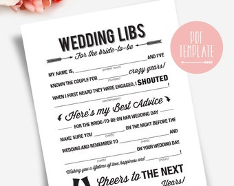 wedding shower mad libs bridal shower mad libs bridal shower games mad libs bridal shower bliss paper boutique bpb41