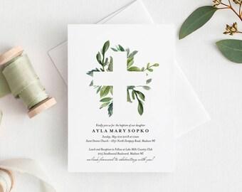 boy baptism invitations etsy