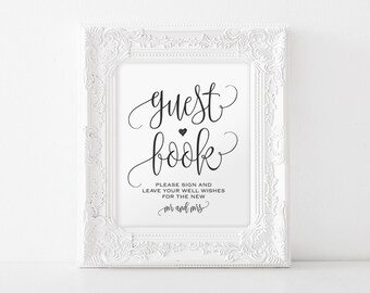 guest book sign please sign our guest book guest book printable wedding sign template reception sign pdf instant download bpb203_41