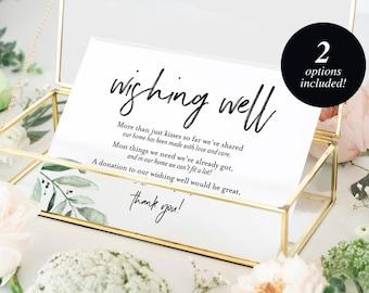 wishing well card wedding wishing well wishing well printable wedding insert wish well lieu of gifts pdf instant download bpb330_25