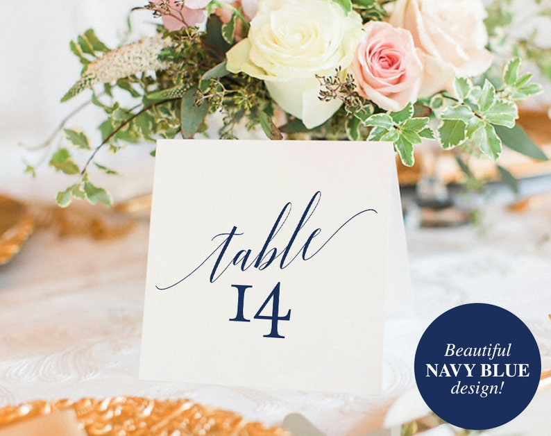 Table Numbers Printable Table Numbers Wedding Table Number image 0