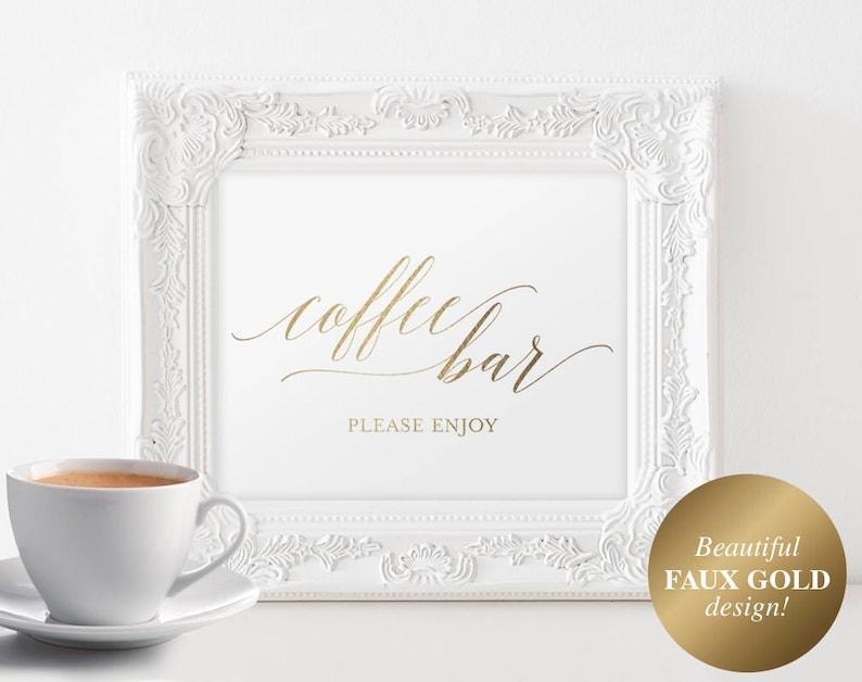 Coffee Bar Sign Coffee Bar Printable Coffee Bar Table image 0