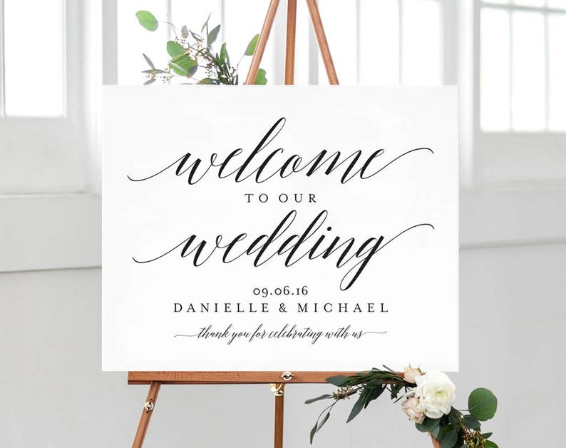c1fbdc5f89594 Welcome Wedding Sign Welcome Wedding Printable Welcome Sign | Etsy