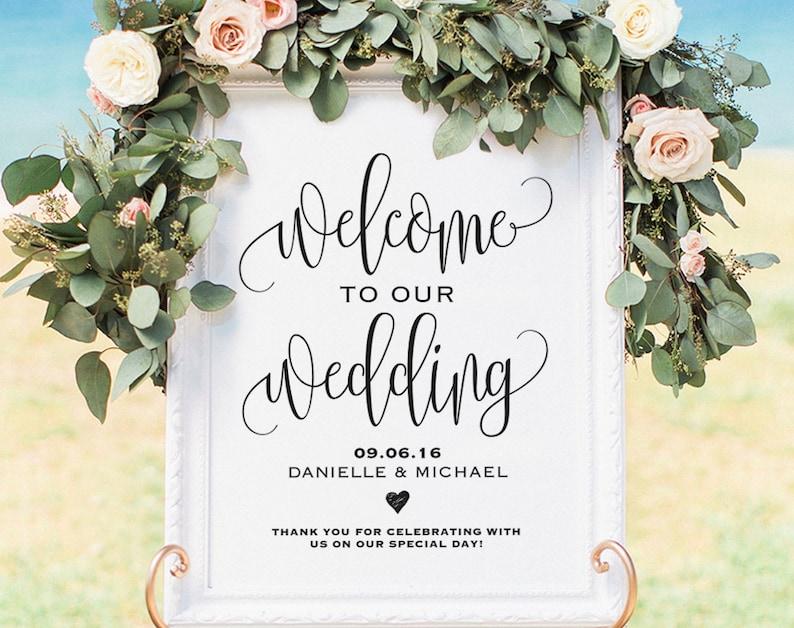 Welcome Wedding Sign Welcome Wedding Printable Wedding Sign image 0