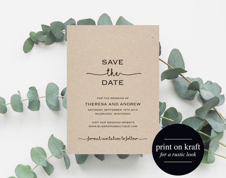 Save the Date Printable Save the Date Template Wedding Save image 0