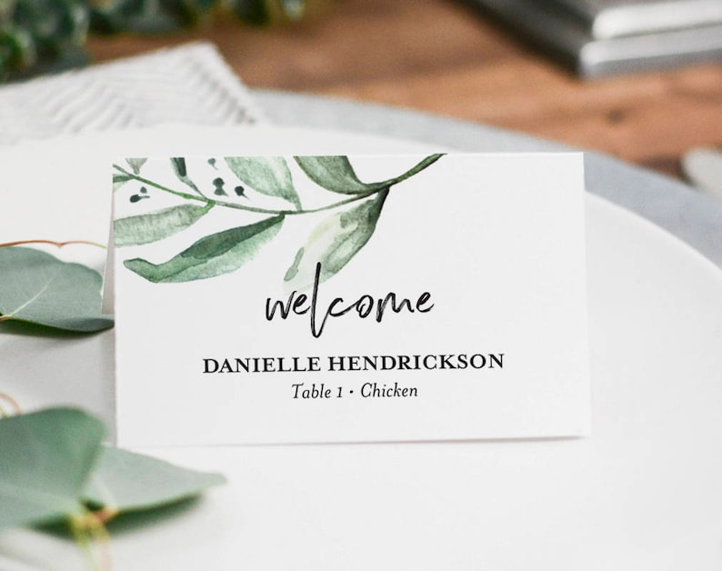 Place Cards Wedding Place Cards Printable Place Cards for image 0